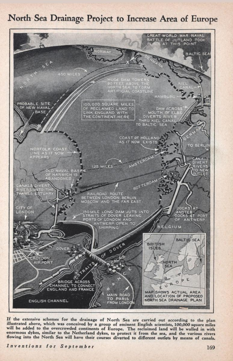 Plans to recover huge area of Doggerland in 1930s