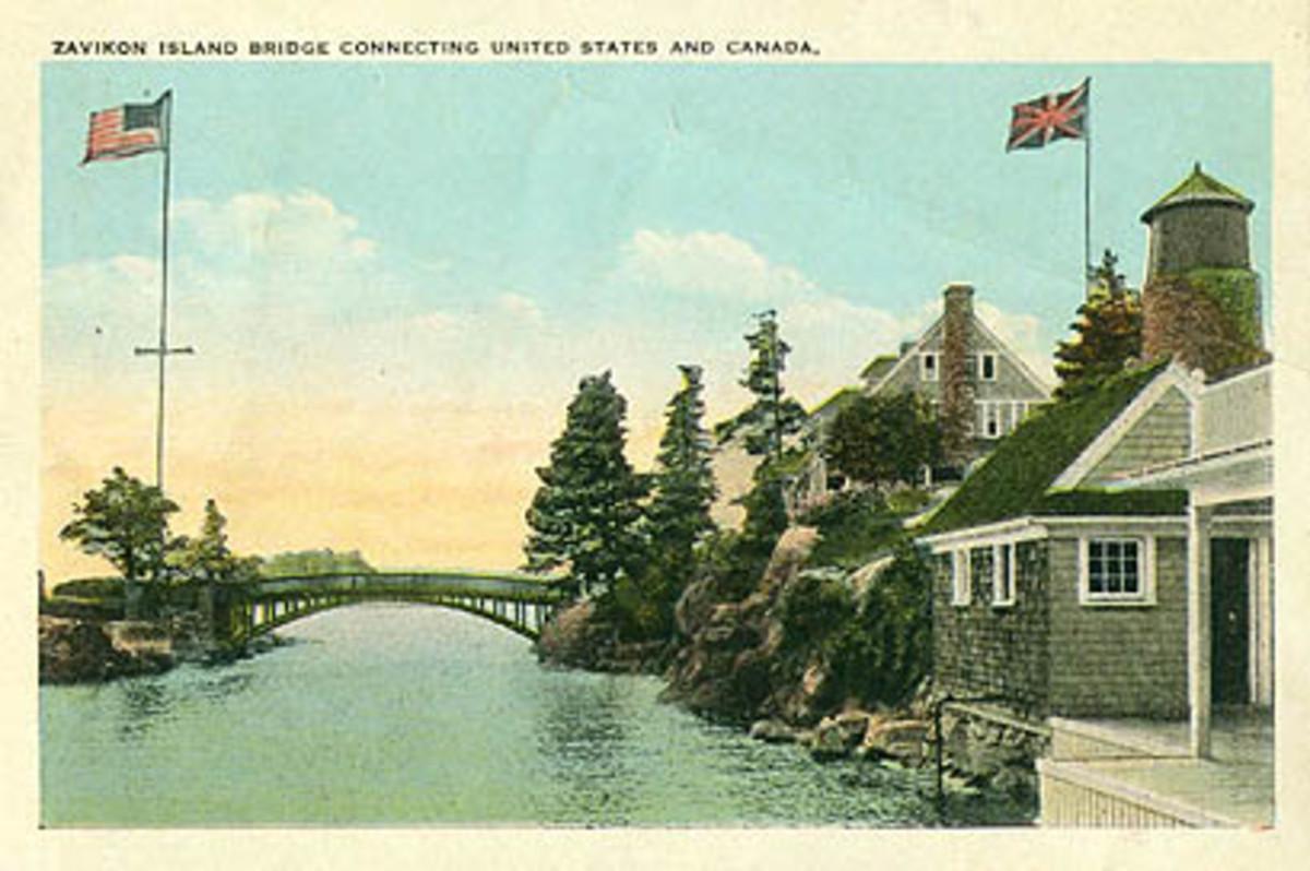 Zavikon Bridge, image created c. 1910
