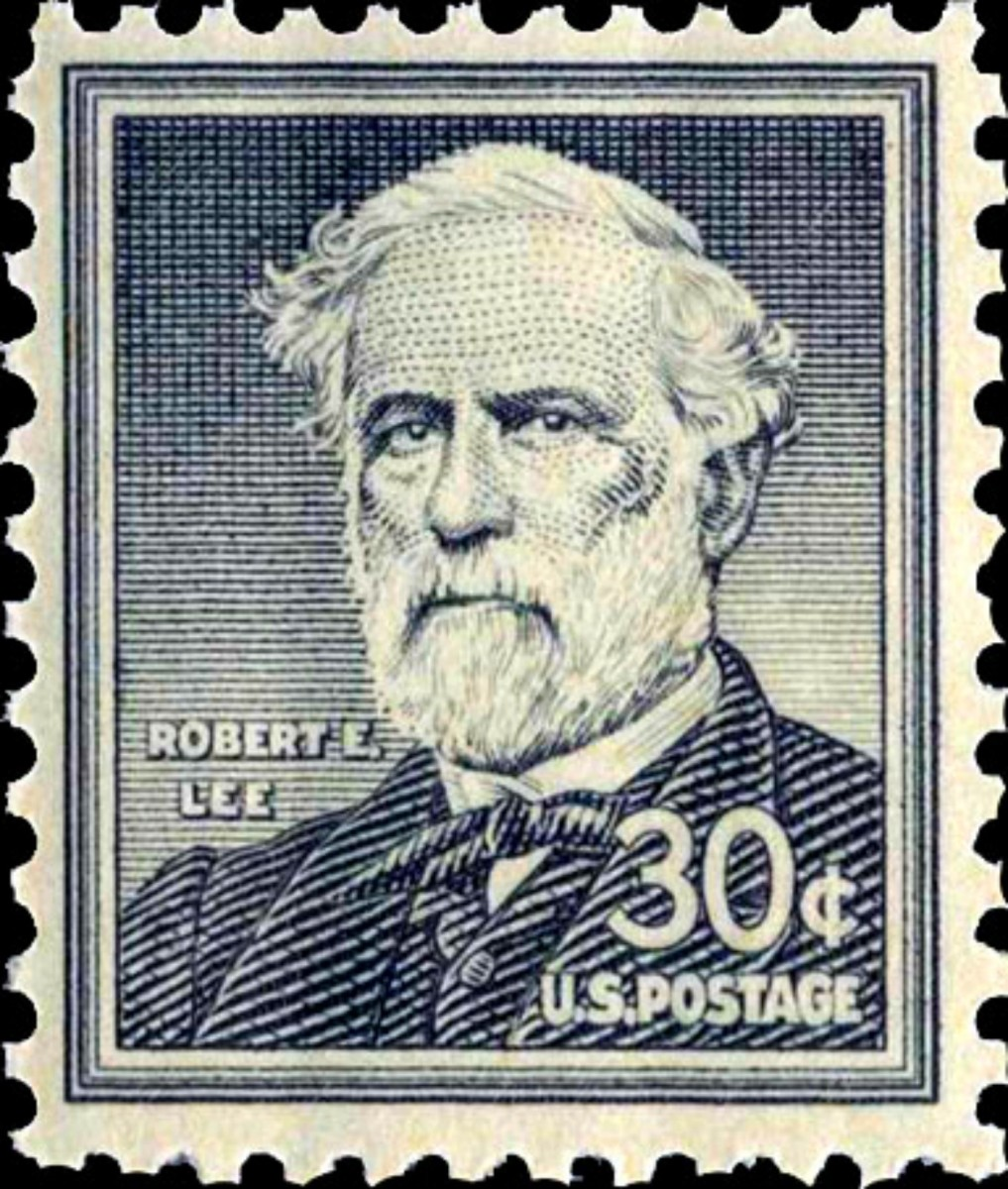 U.S. postage stamp, issued in 1954, honoring Civil War Confederate General Robert E. Lee. The Liberty Series, Issued to replace the 1938 Presidential series, this patriotic set of stamps honors guardians of freedom throughout U.S. history.