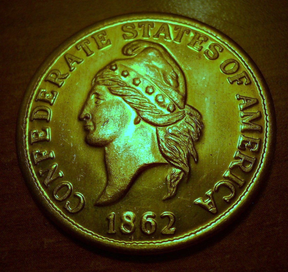 A Very Nice Twenty Dollar Confederate Gold Coin with Detailed Craftsmanship.