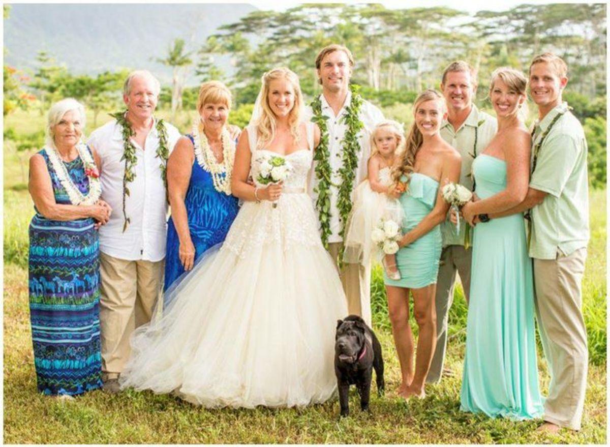 Bethany Hamilton wedding day