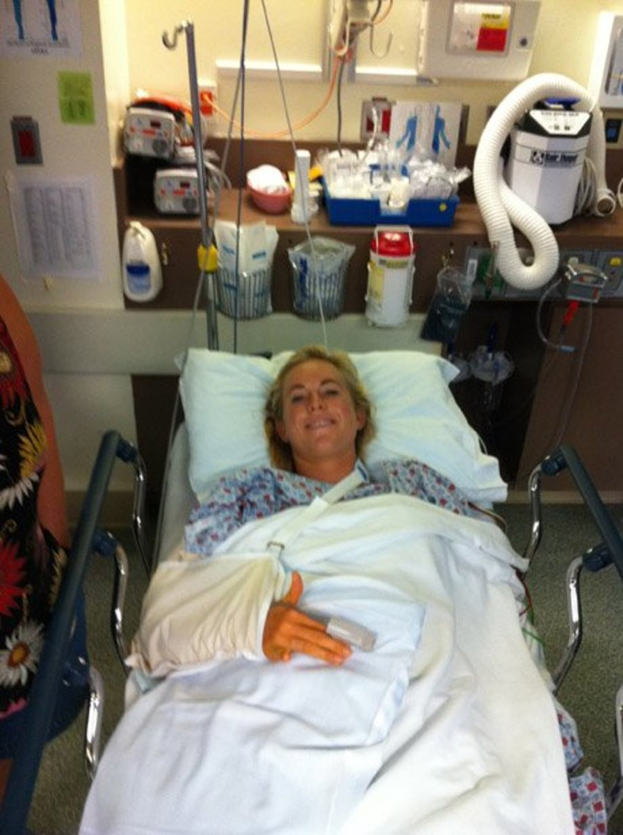 Bethany Hamilton in hospital after shark attack