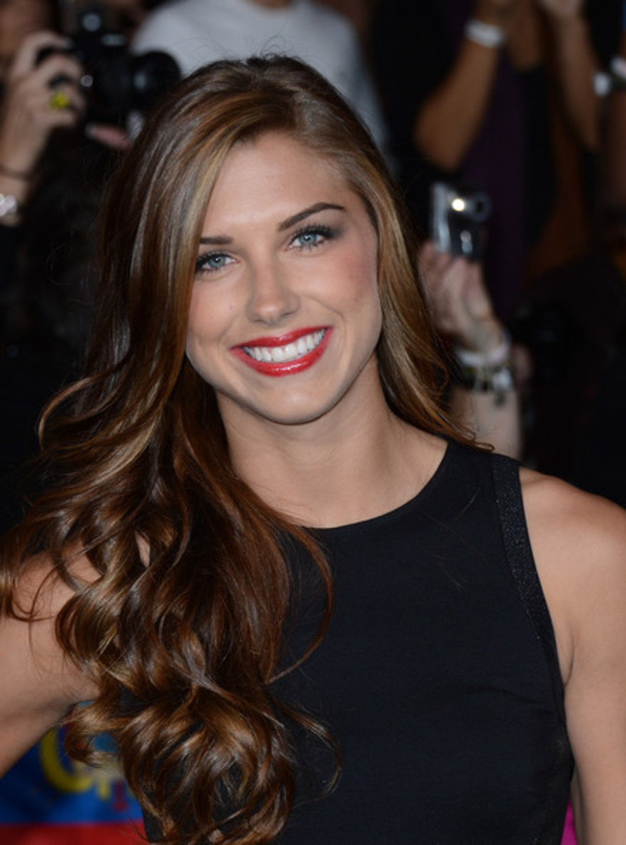 It may be hard to recognize the beauty of this United States Olympic gold medalist  when she is sweating and playing her heart out on the soccer field, but there's no denying Alex Morgan's beauty here. She graduated from the Univerity of California.