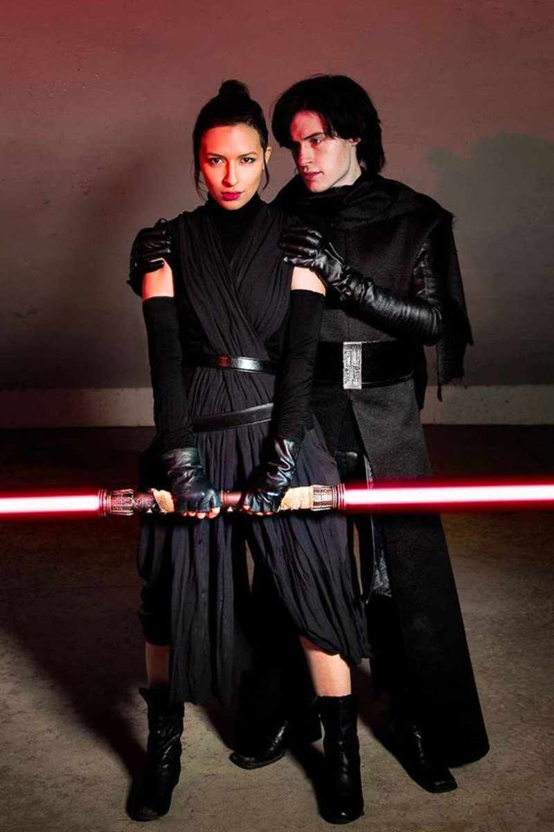 Take a look at these dark force Rey and Kylo Ren costume ideas