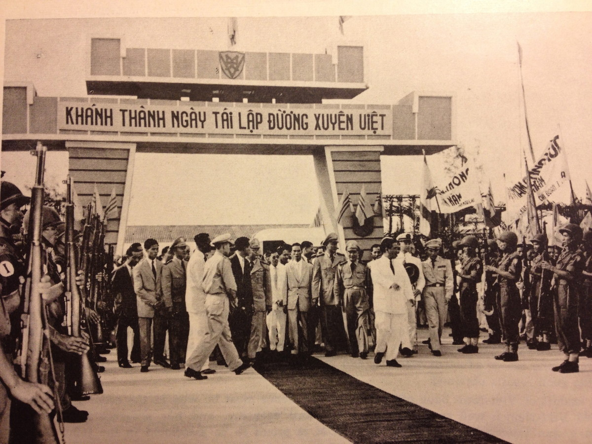 The Dong Ha railroad re-inauguration in October 1960.