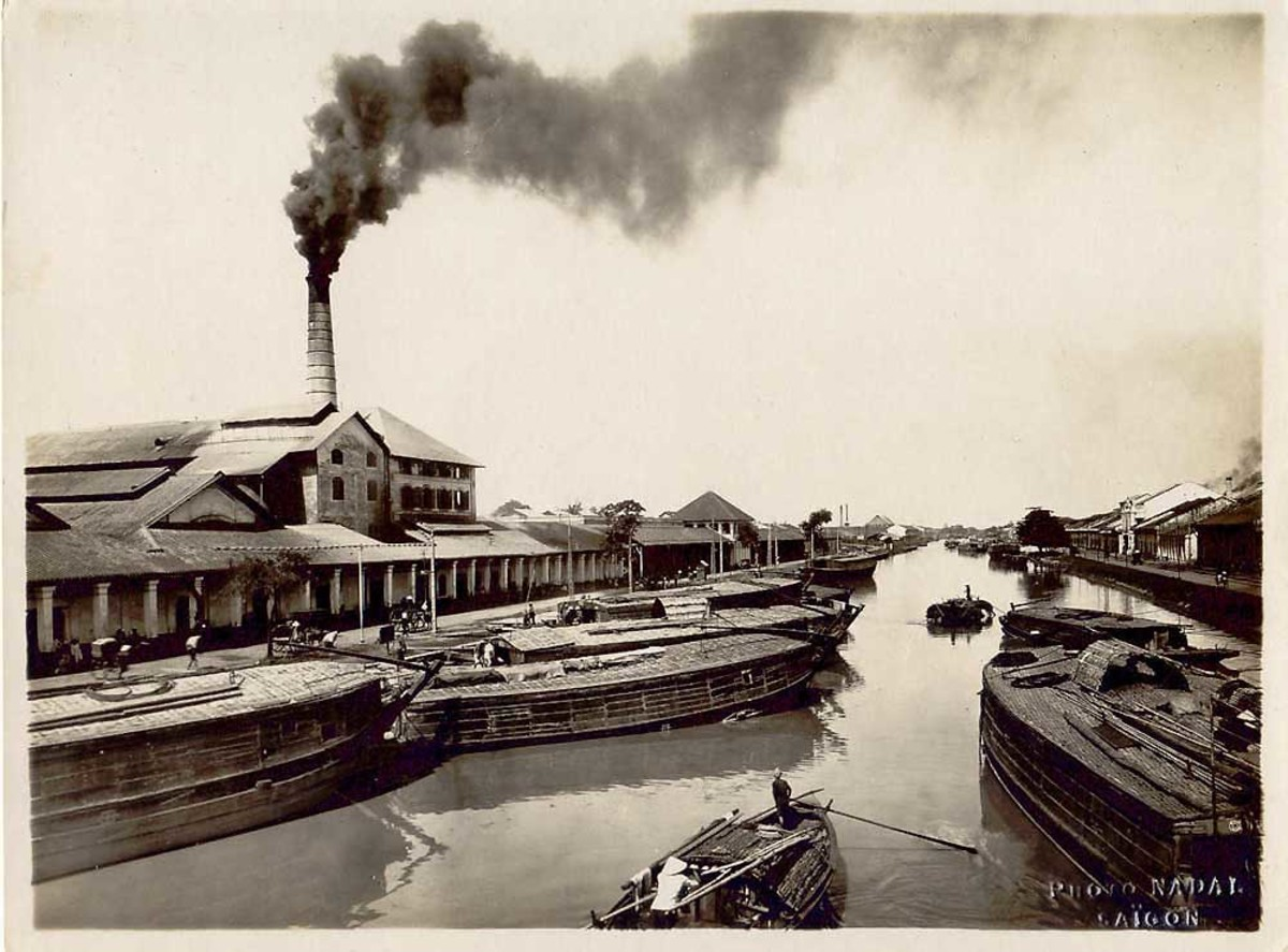 A rice factory at Cholon, date unknown.