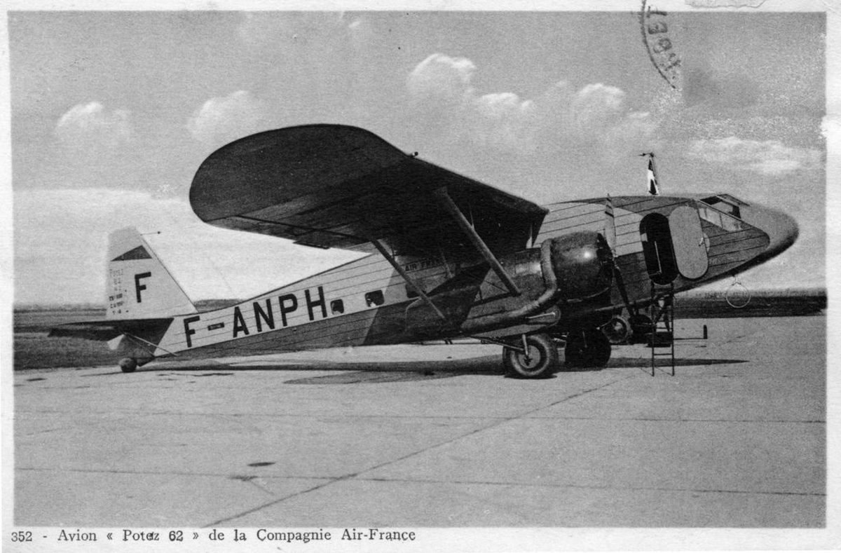 Potez 62, used on the South American section of the route, across the Andes. It was also used in East Asia.
