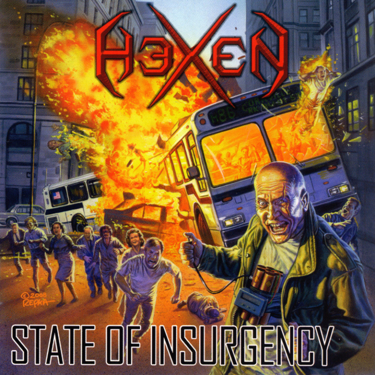Although the album cover for State of Insurgency shows a very chaotic scene, the album is anything but that, providing listeners with some good progressive thrash metal.