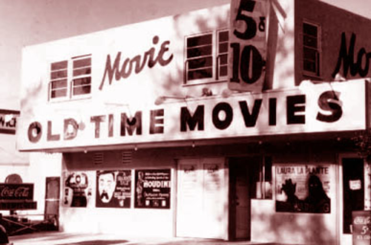 The original iteration of The Silent Movie Theater, same venue but different name and facade, as owned by John and Dorothy Hampton.