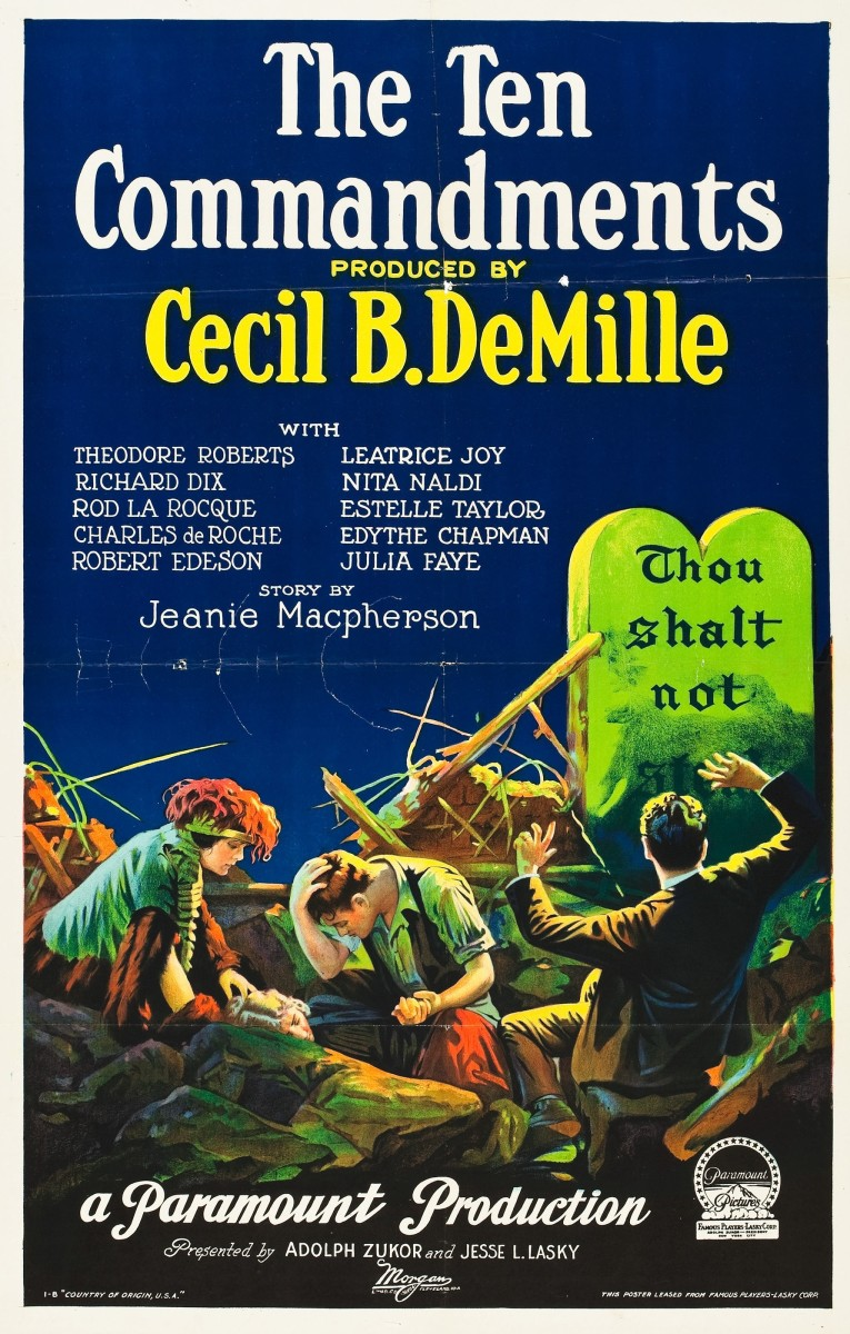 "DeMille's original, 1923 silent ""The Ten Commandments."""