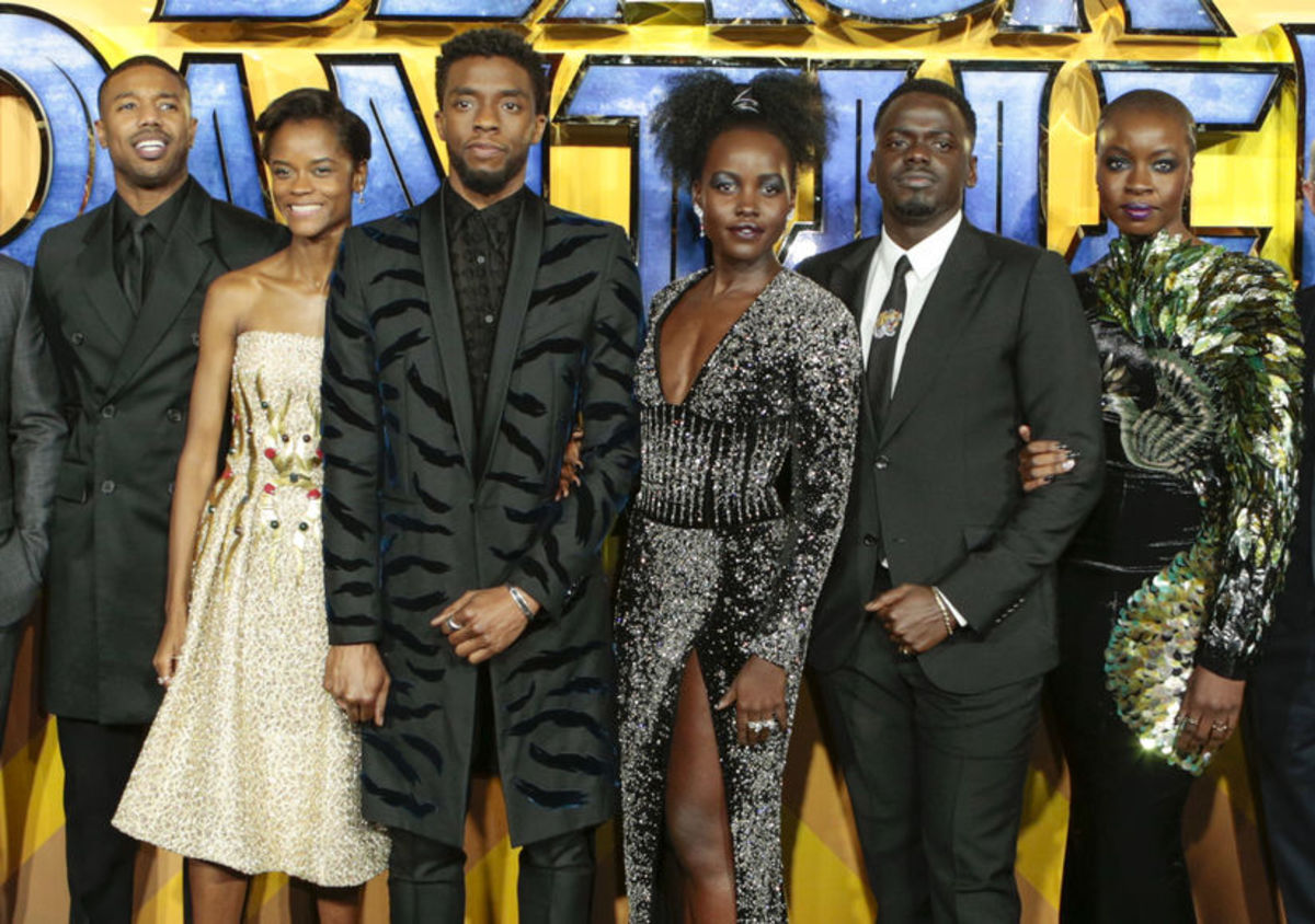 """Some cast members of """"Black Panther"""""""