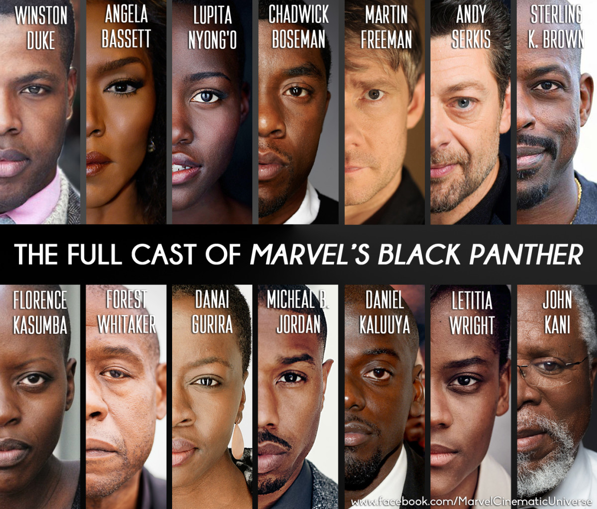 """The cast of """"Black Panther"""""""