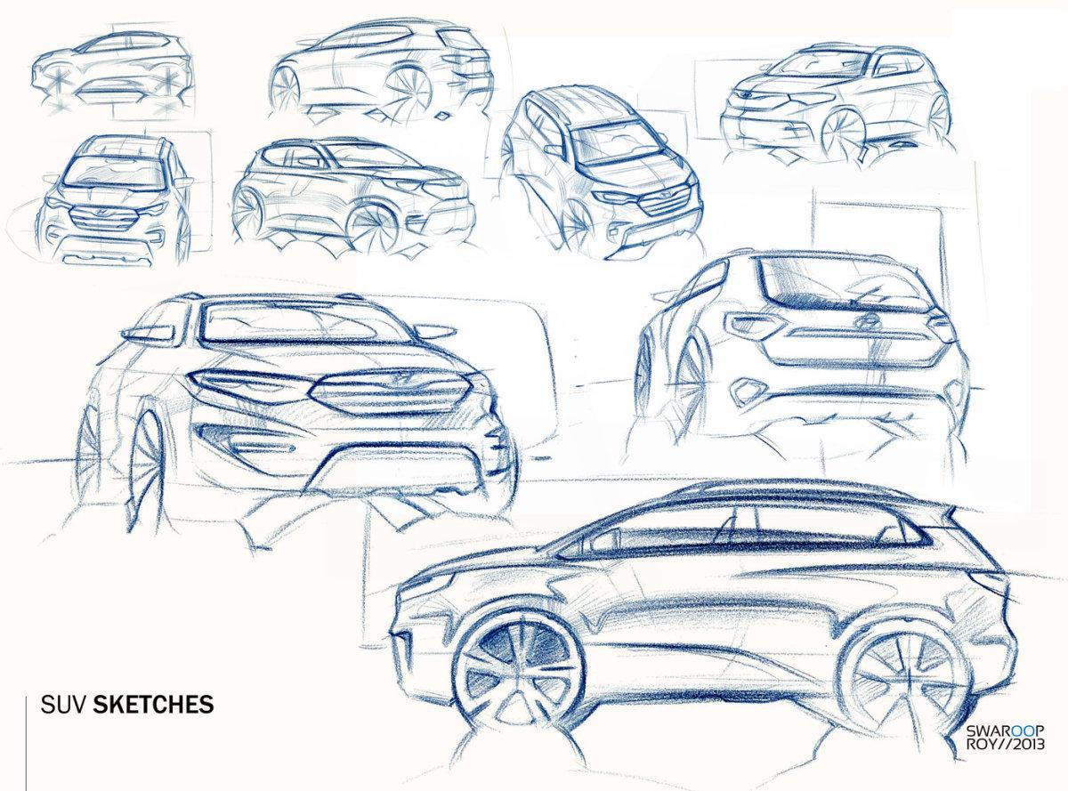 Car Sketches Prismacolor