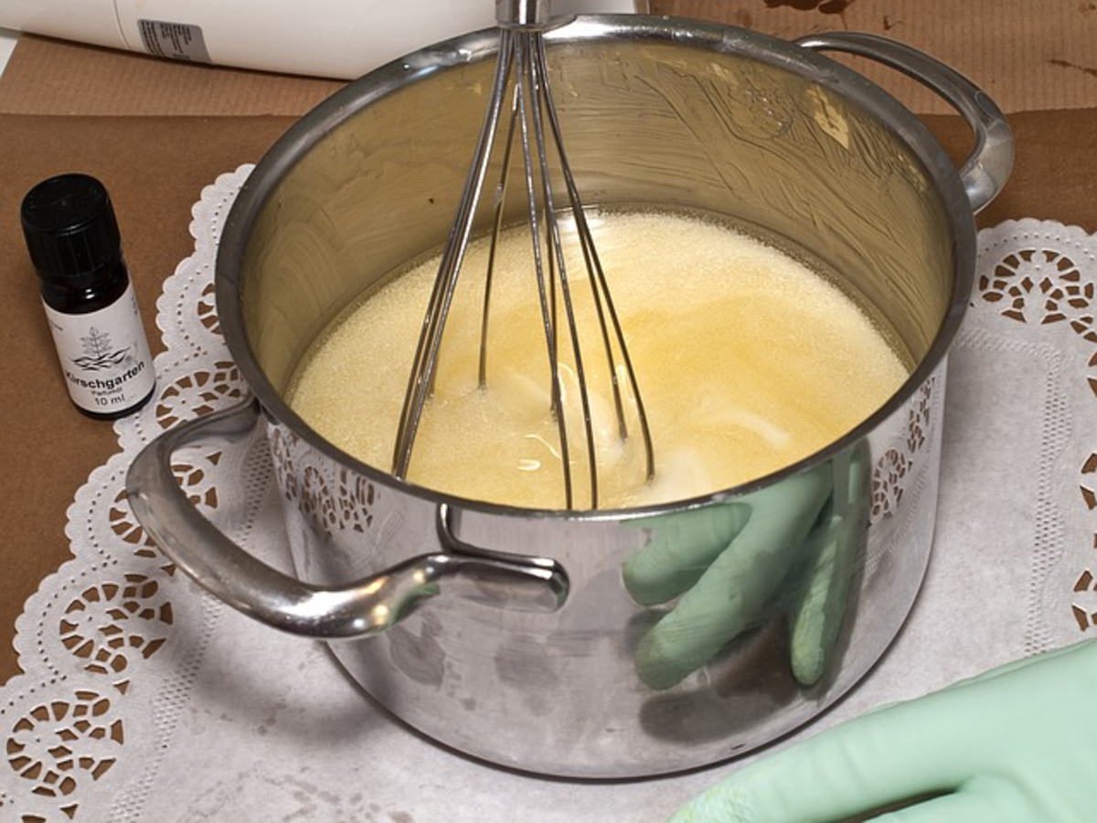 Softened Shea butter - whisk into a fluffy texture.