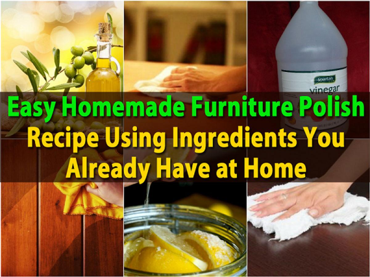 Cheap Homemade Wood Furniture Polish (5 Recipes)