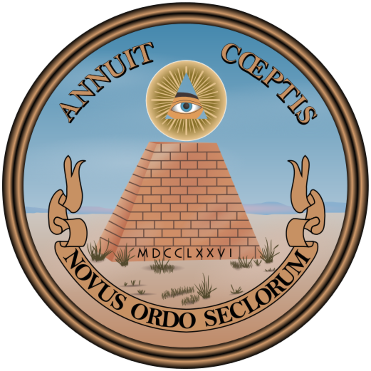 To most people this is the reverse side of the Great Seal of the United States. To conspiracy theorists it's filled with symbolism that the Illuminati are in control.