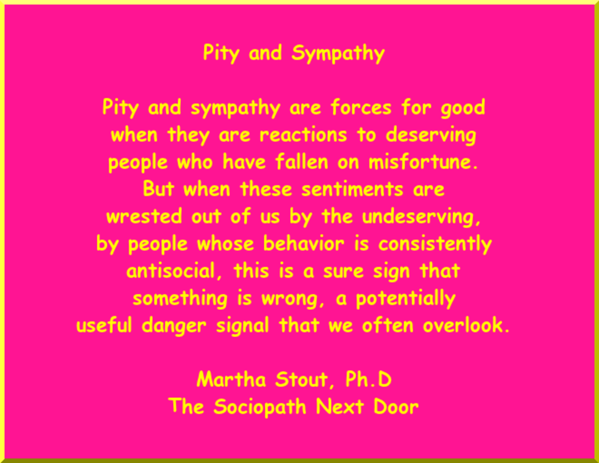 Pity and Sympathy Distinctions by Martha Stout, Ph.D