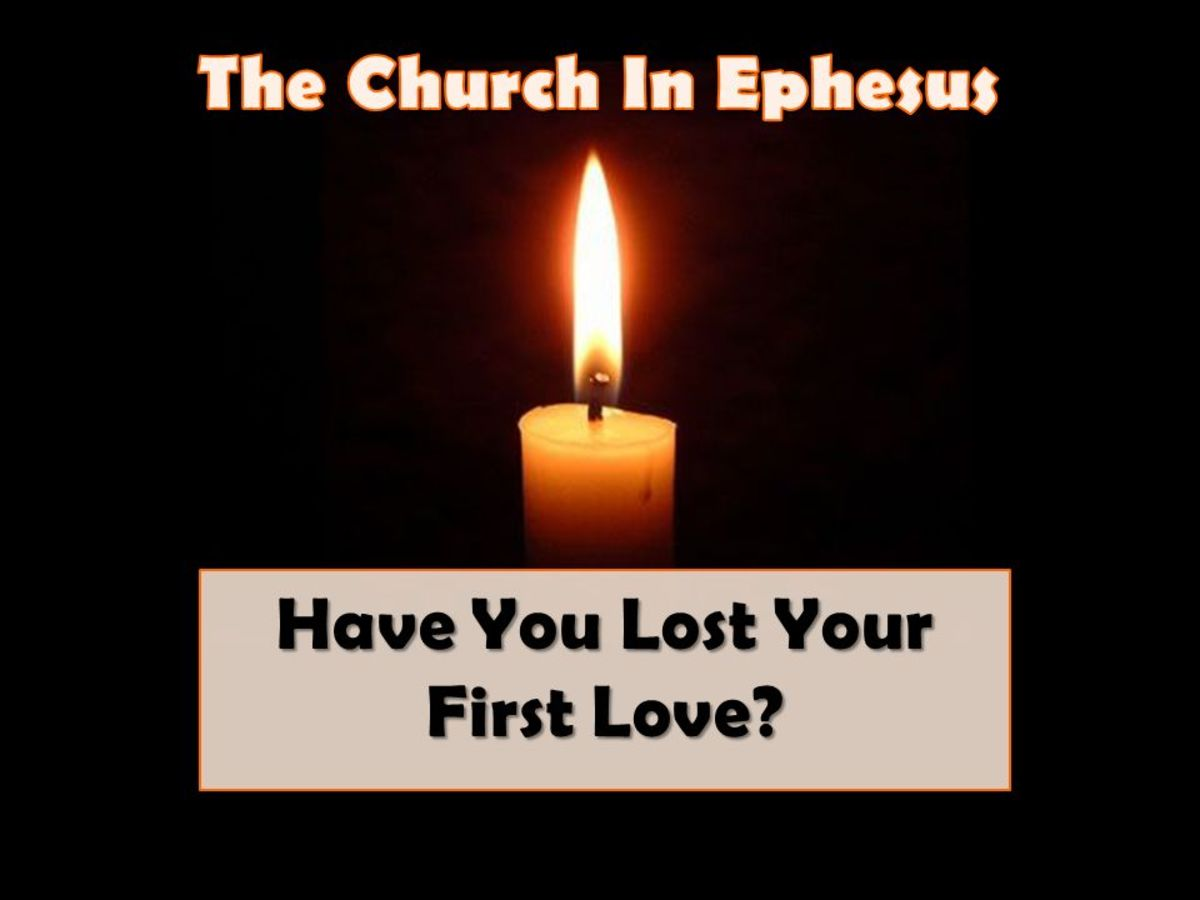 The church in Ephesus had lost its first love.