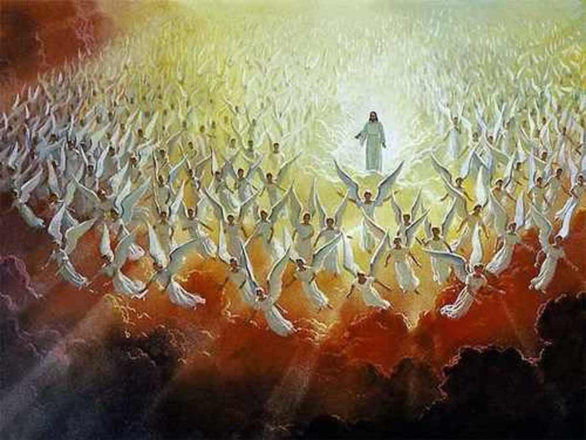 We will see angels in heaven.