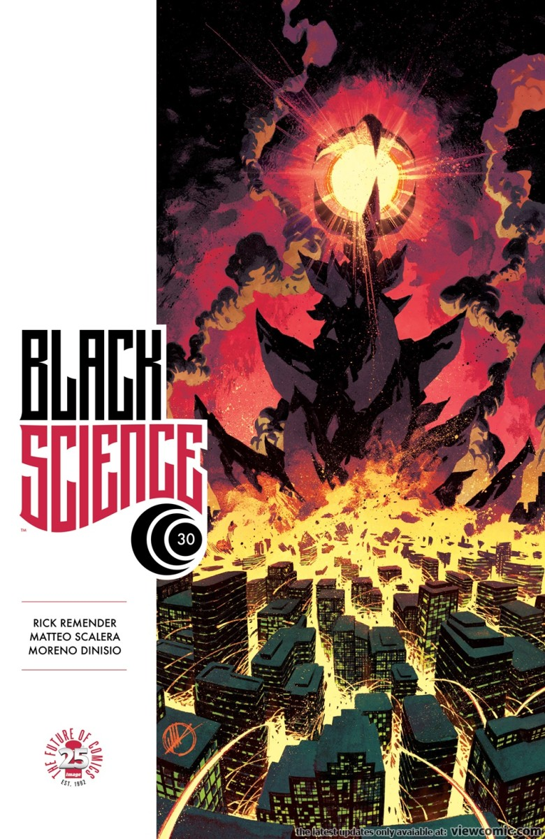 Cover art for issue 30 of Black Science.