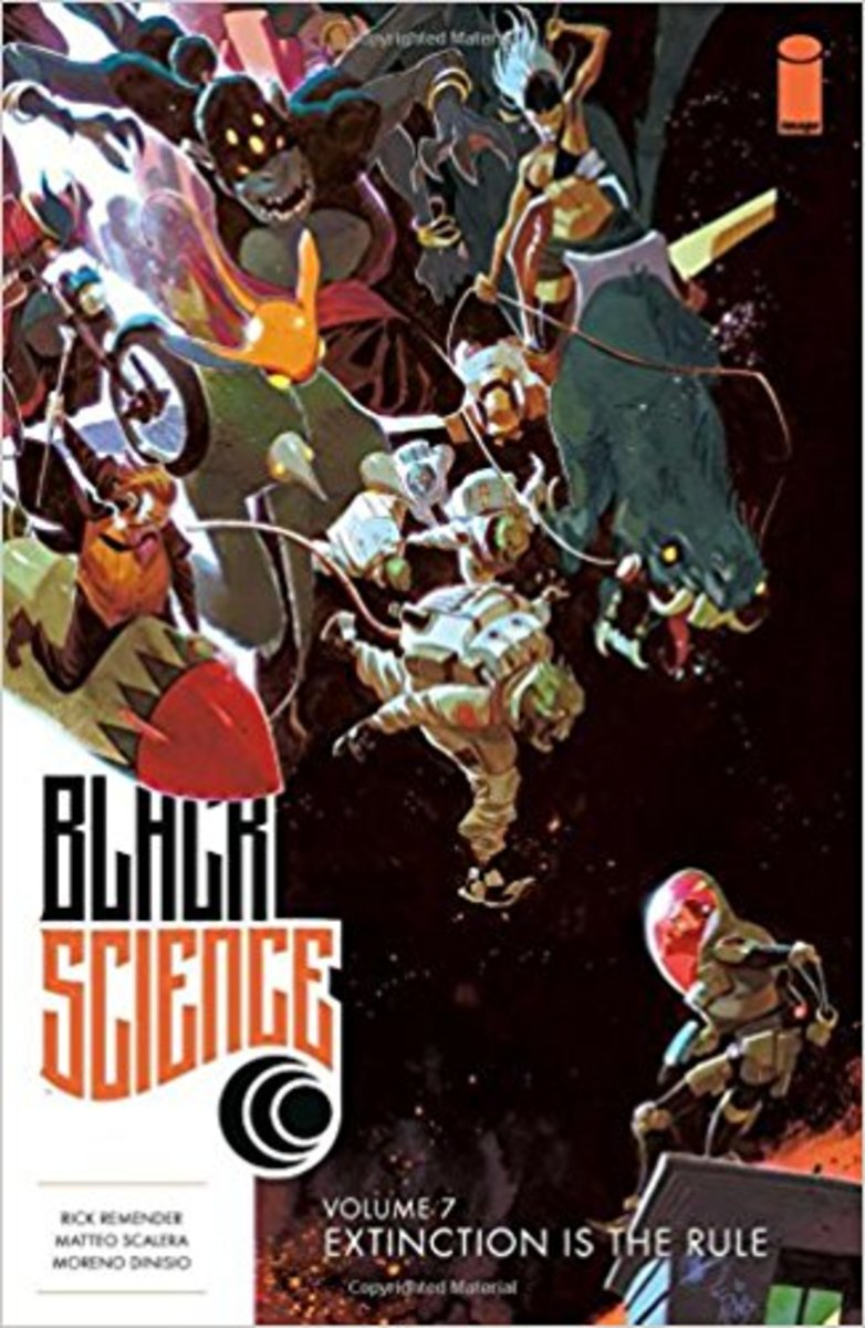 Cover art for volume 7 of Black Science.