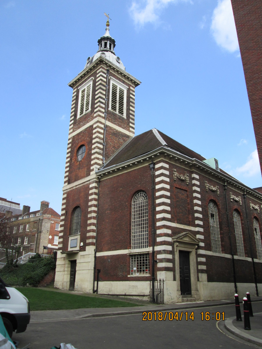 And now for something completely different: just off Queen Victoria Street is the church of St Benet, Paul's Wharf, a church with character and a touch of individuality, where services are held in Welsh.