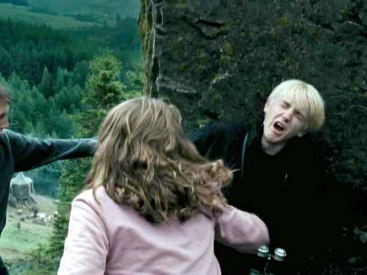 So far, this is the best punch we have seen in the Potter movie.