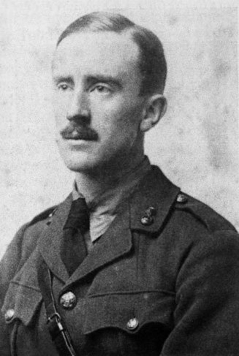 Tolkien in military uniform.