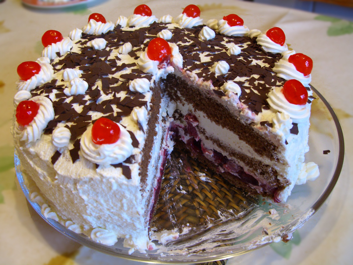 Black Forest Cake for family to share at home after dining out