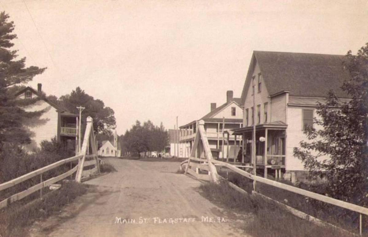 Main Street Flagstaff, Maine in 1915