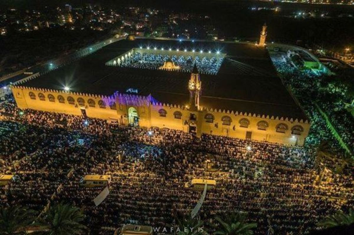 The Mosque of Amr Ibn Al-Aas in Ramadan.