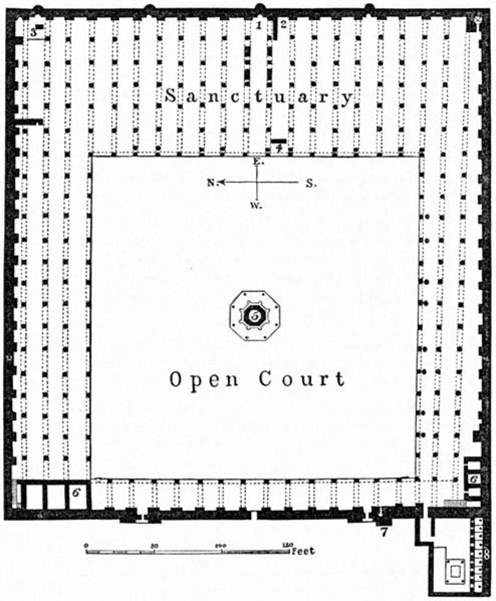 Floor plan of Mosque of 'Amr, Old Cairo