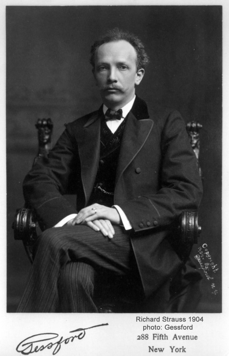 Photograph of Richard Strauss taken on his New York tour in 1904.