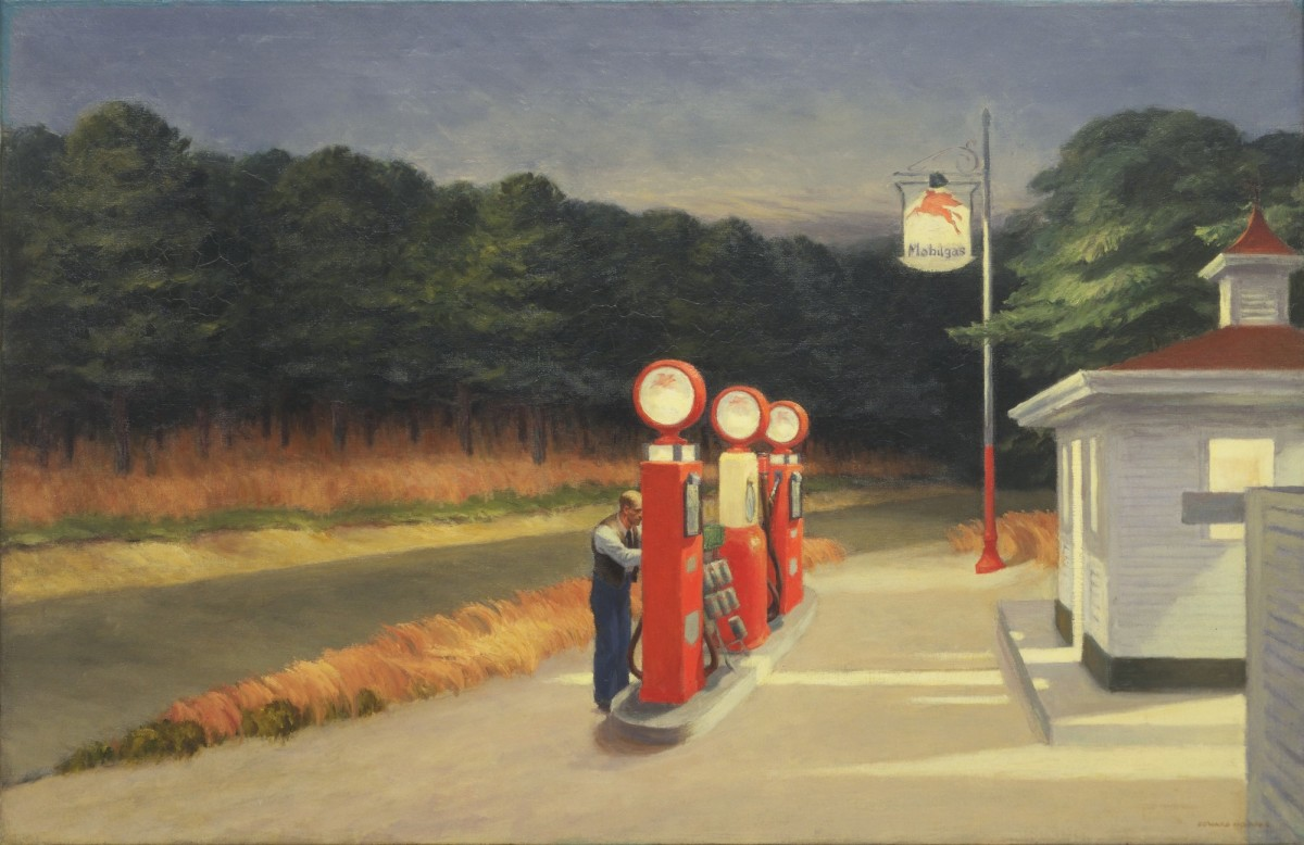 Lighting in Edward Hopper's 1940 Painting, Gas