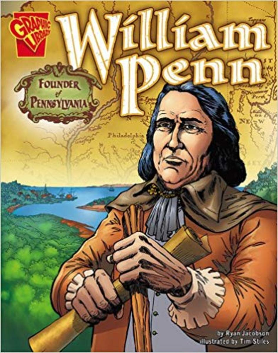 William Penn: Founder of Pennsylvania (Graphic Biographies) by Ryan Jacobson - Book images are from amazon .com.
