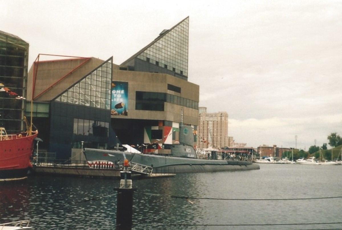 The Inner Harbor, 2005, The USS Torsk and the National Aquarium.