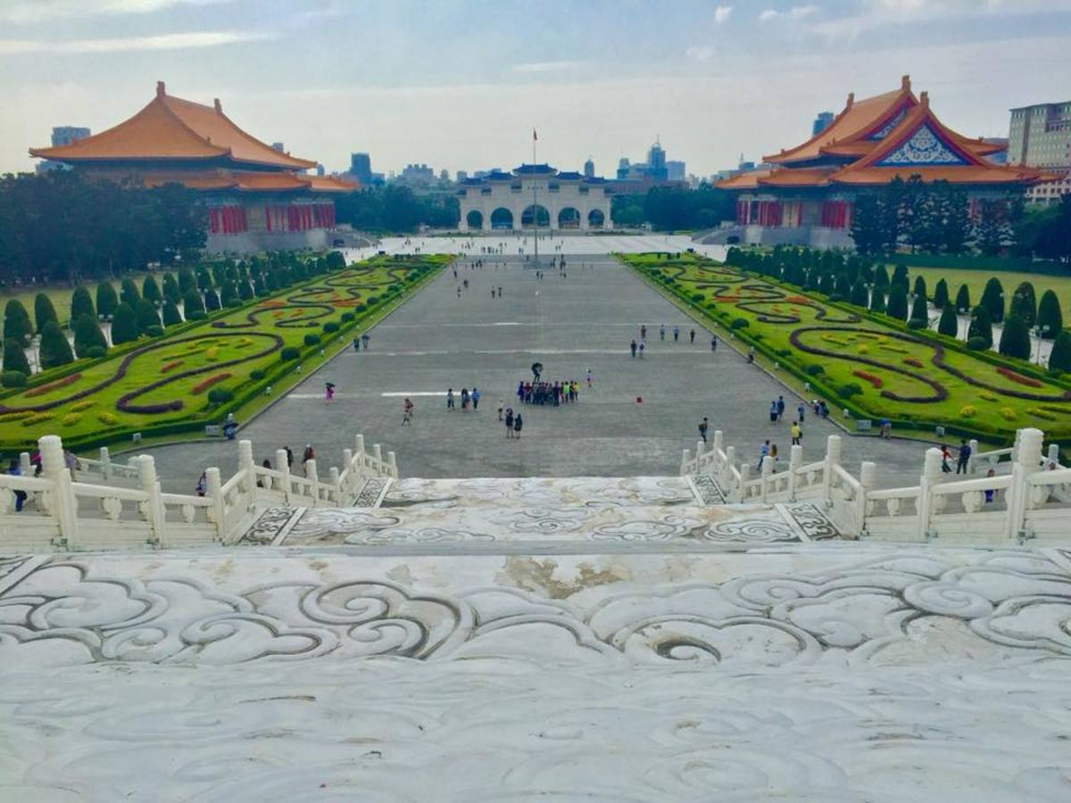 The Liberty Square taken from the Chiang Kai Shek Memorial Hall