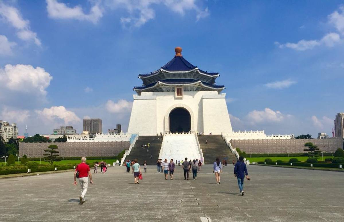 The National Chiang Kai Shek Memorial Hall at the Liberty Square in Taipei, Taiwan