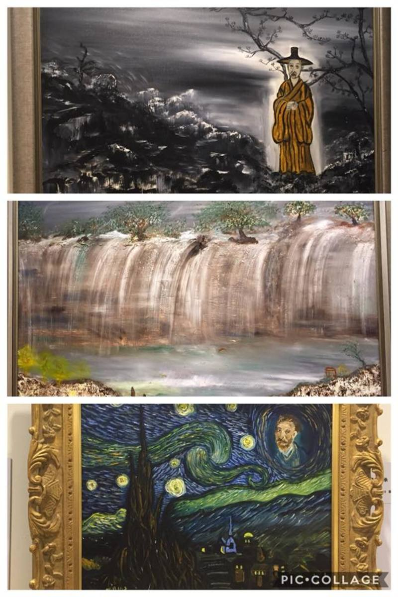 Some of my fave paintings in collage