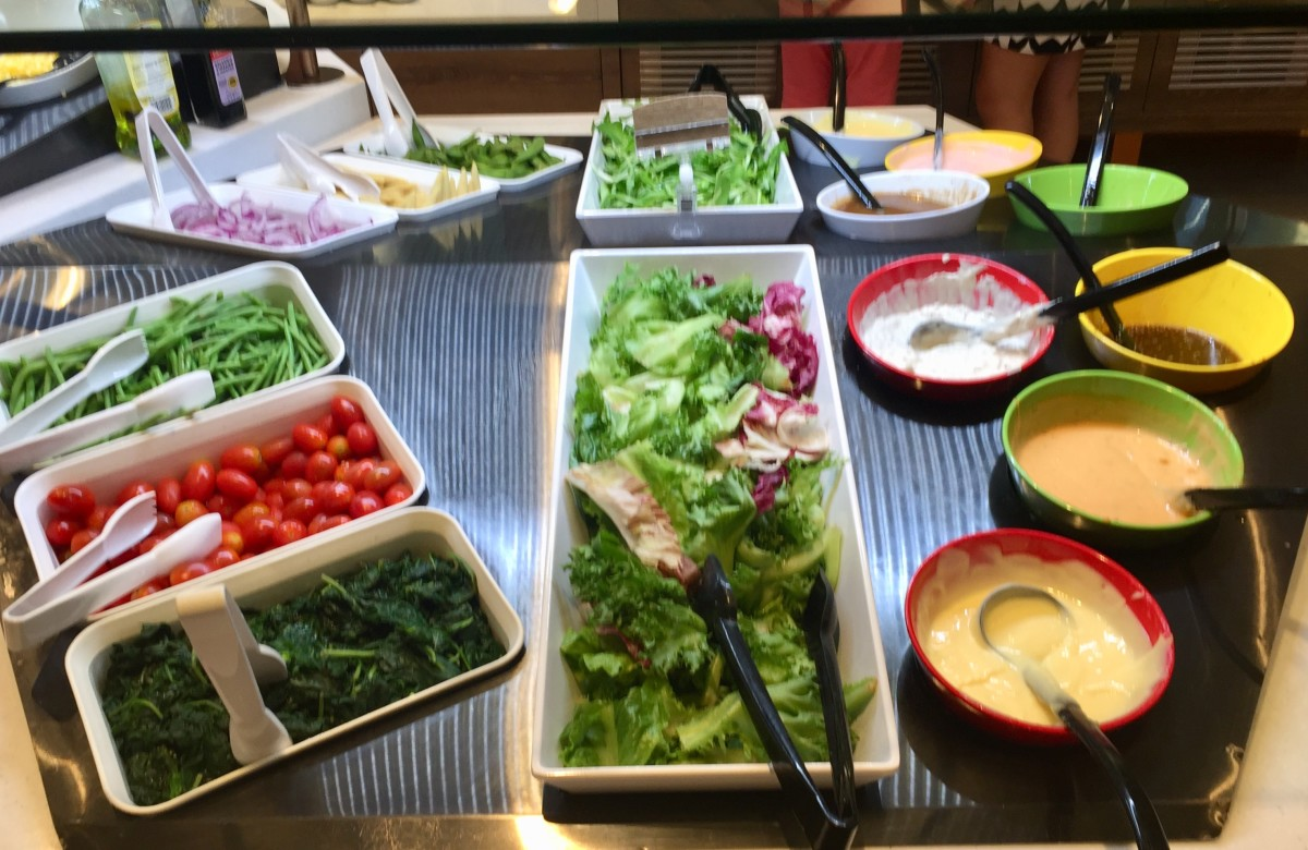 Sizzler soup, salad, dessert buffet at Central World, Bangkok