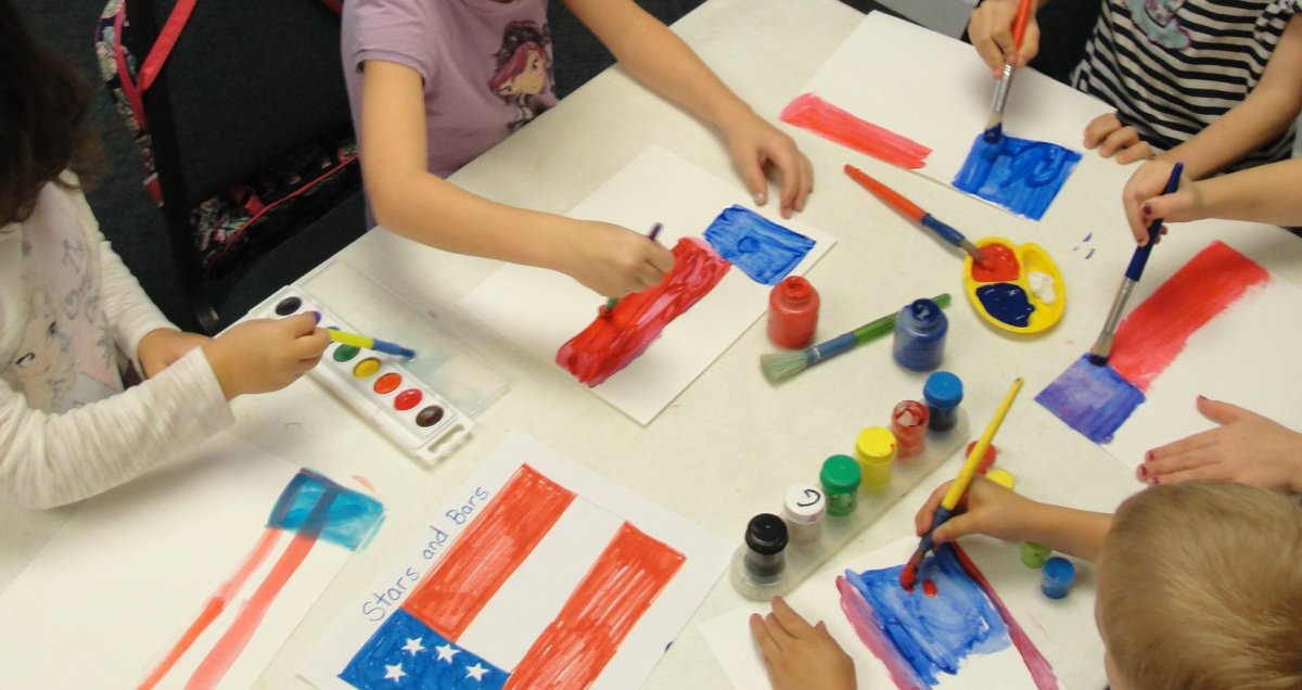 Painting the first Confederate flag