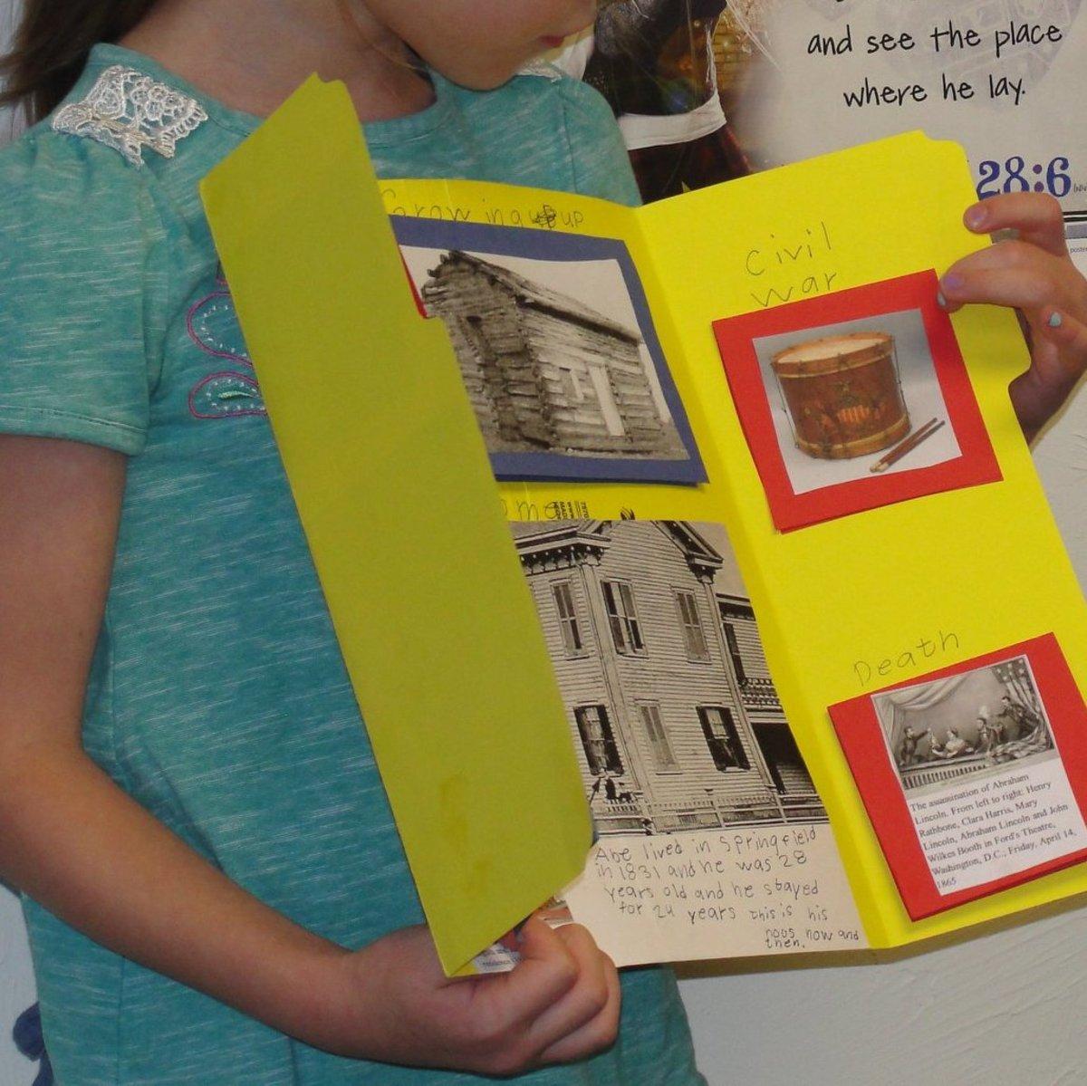 Student biography presentation on Abraham Lincoln