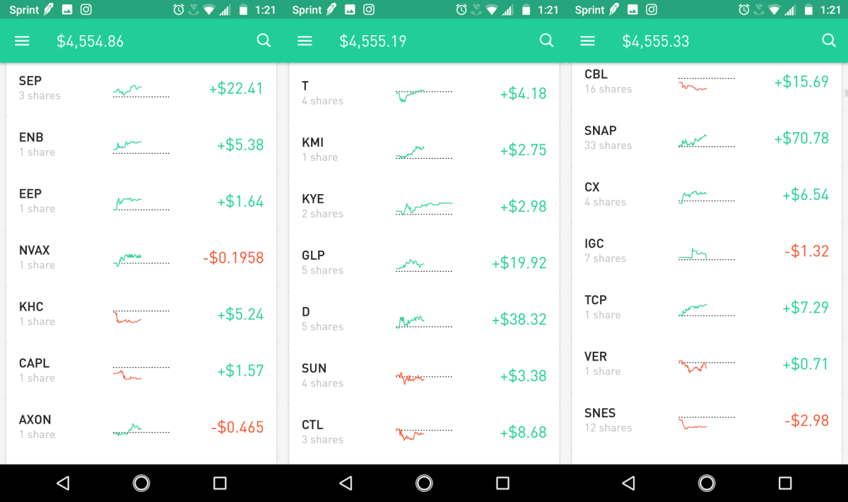 You can  simply drag and drop to rearrange and organize your stocks in the order that you prefer. The same can be done with your watch list.