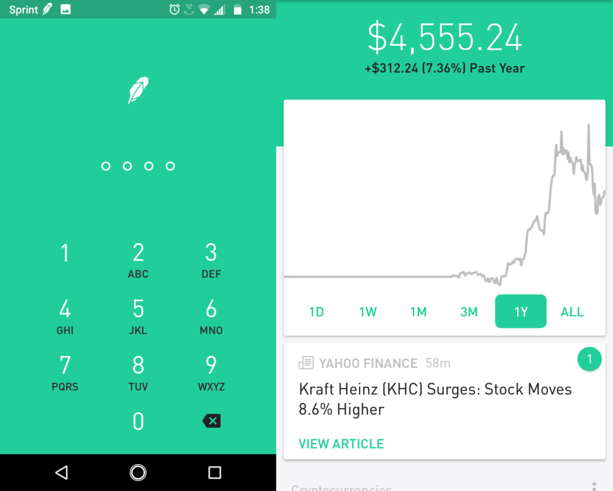 Robinhood Commission-Free Investing  New Amazon
