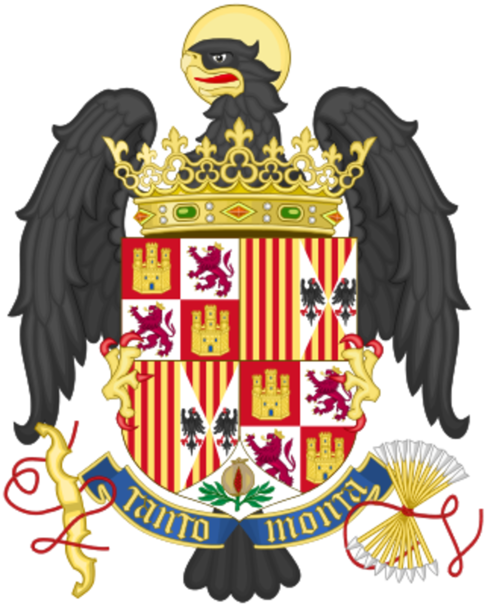 The coat arms of the Catholic Monarchs of Spain