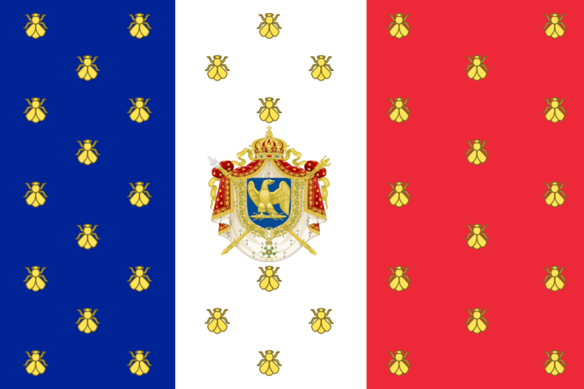 The Imperial Standard of Napoleon III, the first ruler of the Second French Empire.