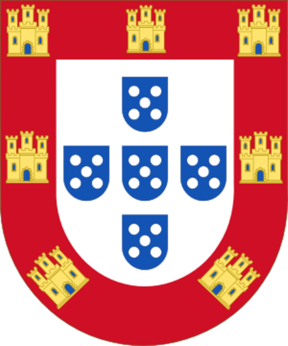 The shield of the Kingdom of Portugal used during the Imperial era.