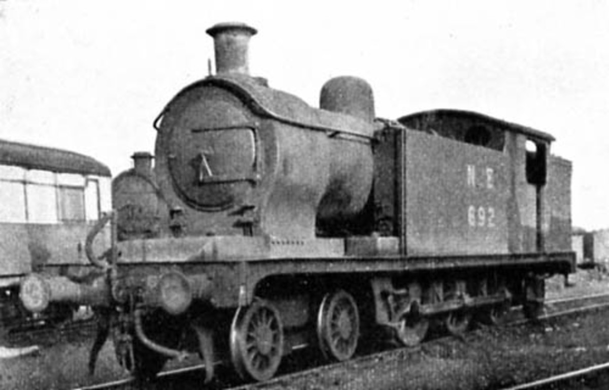 One of  the earlier allocations at Whitby, formerly known as 'Whitby Willies' 4-6-0 tank locomotives re-built as Class A6 4-6-2 to increase their range by increasing coal bunker size