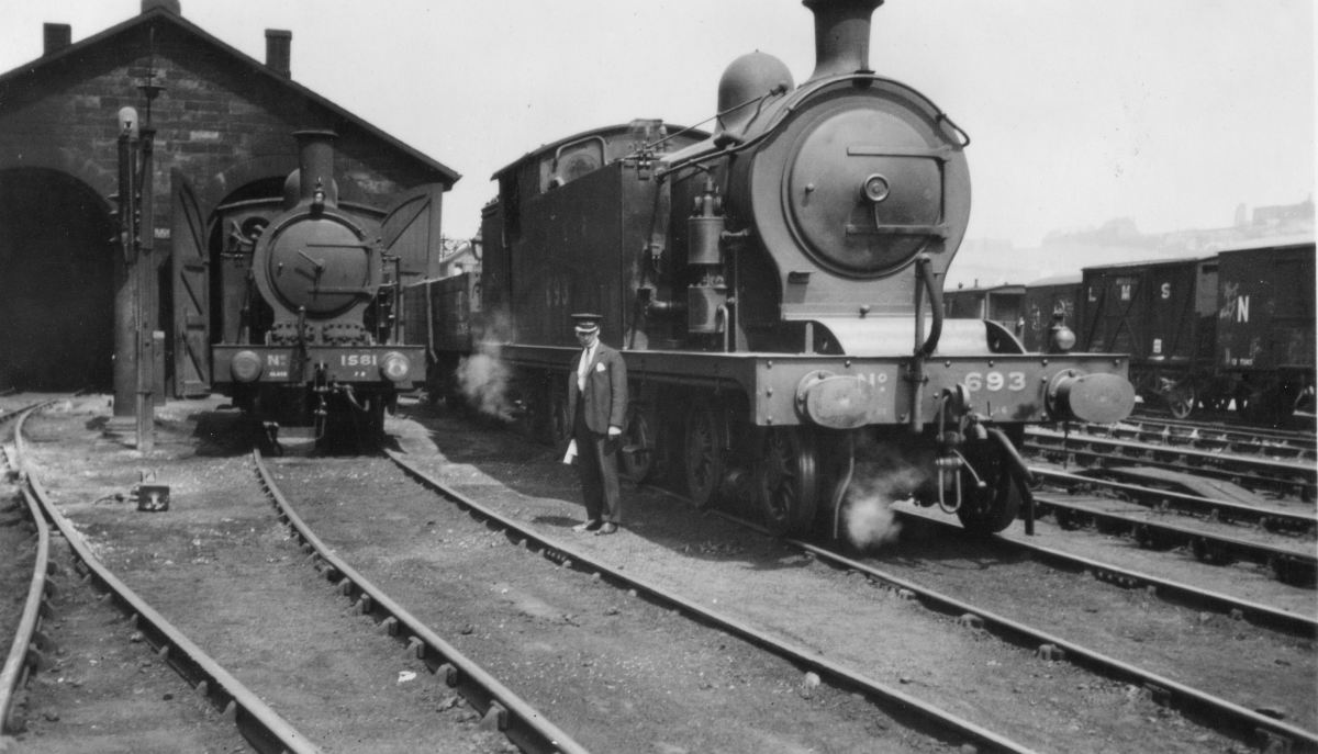 Whitby shed in LNER days before WWII - Class A6 takes the sun before returning to duty