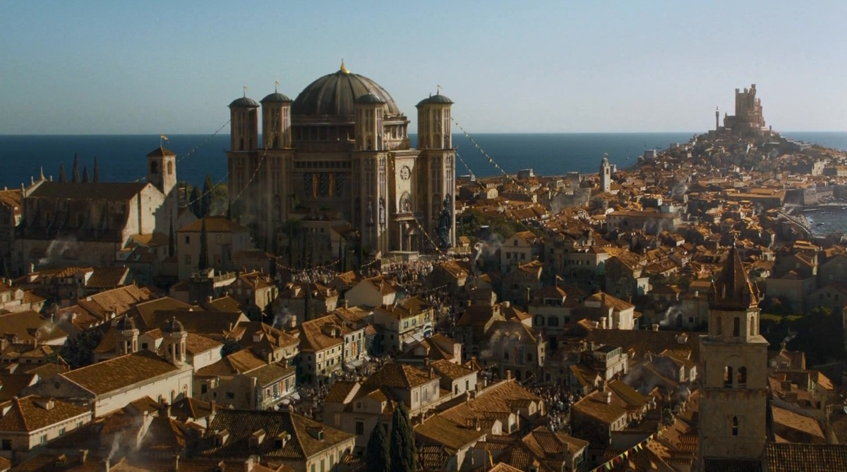 "The Great Sept of Baelor, as shown in HBO's tv series ""The Game of Thrones""."